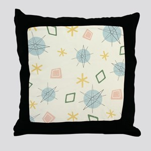Atomic Age Art Throw Pillow